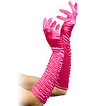 Long Temptress Gloves - Fuchsia Fancy Dress