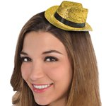 Mini Glitter Cowboy Hat - Gold