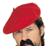 Beret - Red  Fancy Dress
