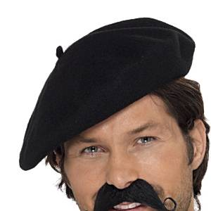 Fancy Dress Accessories Beret - Black