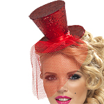 Mini Top Hat - Red Fancy Dress