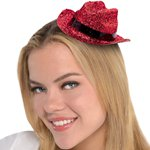 Red Glitter Mini Glitter Cowboy Hat