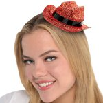 Orange Glitter Mini Glitter Cowboy Hat