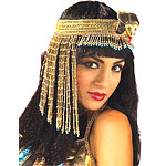 Cleopatra Gold Beaded Headpiece Fancy Dress