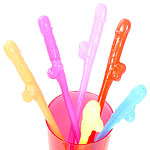 Neon Willy Sipper Straws - 19.5cm