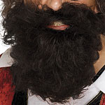 Adult Pirate Beard Brown Fancy Dress