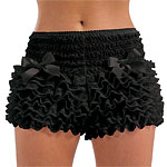 Black Frilly Bustle Pants - One Size