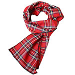 Red Tartan Scarf - Bay City Rollers