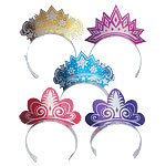 Glitter Party Tiaras - Card