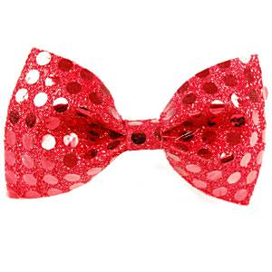 Fancy Dress Accessories Bow Tie - Red Sequin