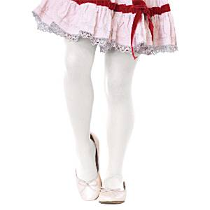 Fancy Dress Accessories Child Tights White Age 7-10
