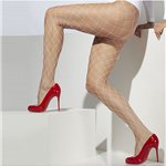 Adult Tights - Diamond Netted White - Size 10-14