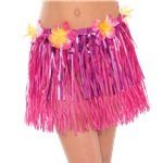 Child's Hula Grass Skirt - Pink & Tinsel