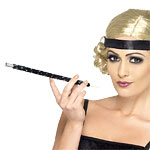 Cigarette Holder - Sequinned Black