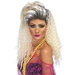 80's Crimp Wig - Blonde