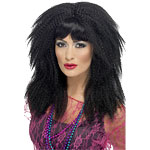 80's Crimp Wig - Black