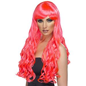 Fancy Dress Accessories Desire Wig - Fuchsia