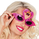 Flamingo Glasses - Hawaiian Accessories