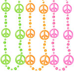 Bead Necklace - Funky Peace Sign