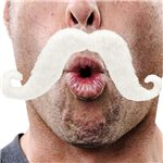 Moustache - White Fancy Dress