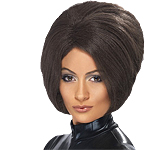 90's Posh Power Wig - Brown