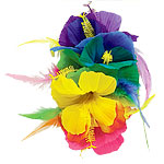 Rainbow Flower Fascinator - Hawaiian Accessories