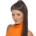 90's Sporty Power Wig - Brown