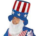 USA American Hat & Beard Set - 4th July