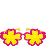 Giant Hibiscus Sunglasses - Hawaiian Accessories