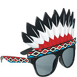 Indian Head Dress Glasses