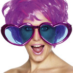 Jumbo Heart Shaped Glasses Assorted Colours