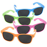 80s Neon Wayfarer Glasses -  Asstorted Colours
