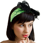 80's Green Lace Headband