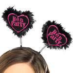 Hot Black 'Hen Party' Love Heart Boppers