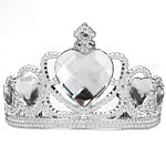 Silver Tiara with Clear Gems