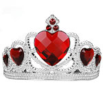 Silver Tiara with Red Gems