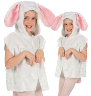 Rabbit Fur Tabbard - Child Costume Fancy Dress