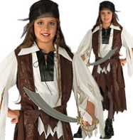 Caribbean Pirate Queen - Child Costume Fancy Dress