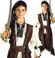 Caribbean Pirate - Child Costume Fancy Dress
