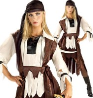 Caribbean Pirate Babe - Adult Costume Fancy Dress