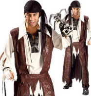 Caribbean Pirate - Adult Costume Fancy Dress