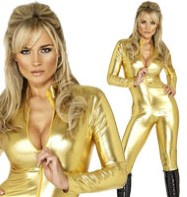 Cat Suit Gold - Adult Costume Fancy Dress