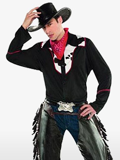 Outlaw Pete Cowboy - Adult Costume Fancy Dress