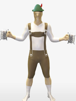 Morphsuit Lederhosen - Adult Costume Fancy Dress