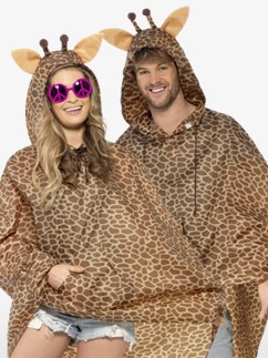 Unisex Giraffe Party Poncho - Adult Costume