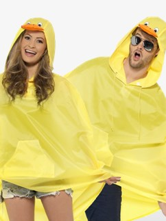 Unisex Duck Party Poncho - Adult Costume Fancy Dress