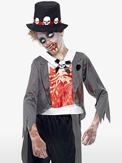 Zombie Groom - Child & Teen Costume Fancy Dress