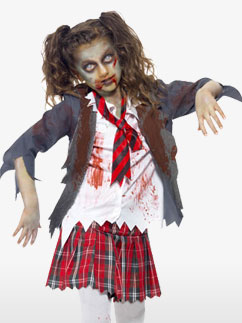 Zombie School Girl - Child & Teen Costume Fancy Dress
