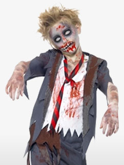 Zombie School Boy - Child Costume Fancy Dress