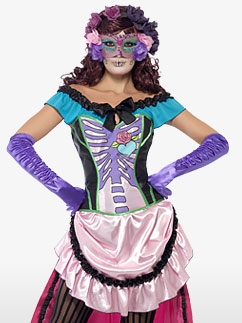 Day of the Dead Sugar Skull - Adult Costume Fancy Dress